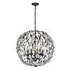 Circeo 5 Light Pendant In Deep Rust
