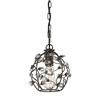 Sagemore 1 Light Pendant In Bronze Rust