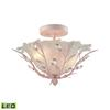 ELK lighting Circeo 2 Light LED Semi Flush In Light Pink