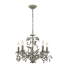 Circeo 5 Light Chandelier In Marble Gray