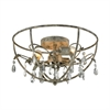 Bridget 3 Light Semi Flush In Marble Gray