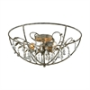 ELK lighting Bridget 5 Light Chandelier In Marble Gray