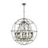 ELK lighting Bridget 8 Light Chandelier In Marble Gray