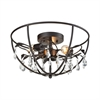 Bridget 3 Light Semi Flush In Oil Rubbed Bronze