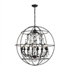 ELK lighting Bridget 8 Light Chandelier In Oil Rubbed Bronze