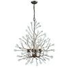 Crislett 6 Light Chandelier In Sunglow Bronze With Clear Crystal