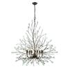 Crislett 9 Light Chandelier In Sunglow Bronze With Clear Crystal