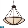 Spanish Mosaic 6 Light LED Pendant In Aged Bronze