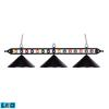 Designer Classics 3 Light LED Billiard In Matte Black
