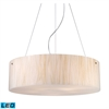 ELK lighting Modern Organics 5 Light LED Pendant In Polished Chrome And White Sawgrass
