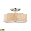 Modern Organics 3 Light LED Semi Flush In Polished Chrome