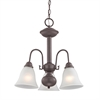 Cornerstone Bellingham 3 Light Chandelier In Oil Rubbed Bronze