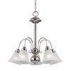 Cornerstone Bellingham 5 Light Chandeier In Brushed Nickel