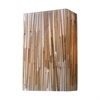 Modern Organics 2 Light Sconce In Polished Chrome And Bamboo Stem