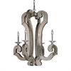 ELK lighting Mariana 4 Light Chandelier In Weathered Silver