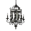 Mariana 4 Light Chandelier In Blackened Silver