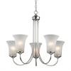 Cornerstone Charleston 5 Light Chandeier In Brushed Nickel