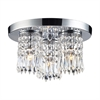ELK lighting Optix 3 Light Semi Flush In Polished Chrome
