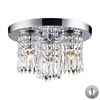 ELK lighting Optix 3 Light Semi Flush In Polished Chrome - Includes Recessed Lighting Kit