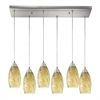 Galaxy 6- Light Pendant In Satin Nickel