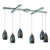 ELK lighting Galaxy 6 Light Pendant In Smoke And Satin Nickel