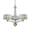 ELK lighting Alexis 3 Light Chandelier In Antique Silver