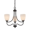 Cornerstone Arlington 3 Light Chandelier In Oil Rubbed Bronze