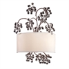 Winterberry 2 Light Wall Sconce In Antique Darkwood