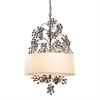Winterberry 4 Light Chandelier In Antique Darkwood