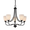 Cornerstone Arlington 5 Light Chandeier In Oil Rubbed Bronze