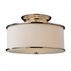 Lureau 2 Light Semi Flush In Polished Nickel