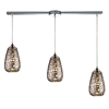 ELK lighting Nestor 3 Light Pendant In Polished Chrome