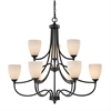 Cornerstone Arlington 9 Light Chandelier In Oil Rubbed Bronze