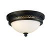 ELK lighting Flushmounts 2 Light Flushmount In Deep Rust And Opal White Glass