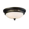 ELK lighting Flushmounts 3 Light Flushmount In Deep Rust And Opal White Glass