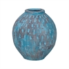 Rustic Blu Base V In Distressed Light Blue With Teardrop Pattern