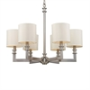 Seven Springs 6 Light Chandelier In Satin Nickel