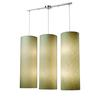 Fabric Cylinder 12 Light Pendant In Satin Nickel