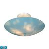 Kidshine 3 Light LED Semi Flush With Cloud-Themed Glass