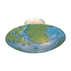 Kidshine 3 Light Semi Flush With World Map Glass