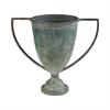 Eared Metal Vase