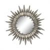 Sunburst Mirror In Aged Silver