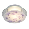 Novelty 2 Light Semi Flush In White