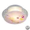 Novelty 2 Light Semi Flush In White With Recessed Lighting Kit