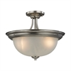 Cornerstone Bristol Lane 3 Light Semi Flush In Brushed Nickel