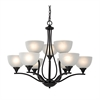 Bristol Lane 9 Light Chandelier In Oil Rubbed Bronze
