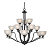 Cornerstone Bristol Lane 15 Light Chandelier In Oil Rubbed Bronze
