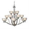 Cornerstone Bristol Lane 15 Light Chandelier In Brushed Nickel