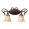 Regency 2 Light Vanity In Burnt Bronze And Gold Leaf