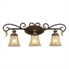 Regency 3 Light Vanity In Burnt Bronze And Gold Leaf